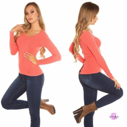 Suéter minimalista coral [2]