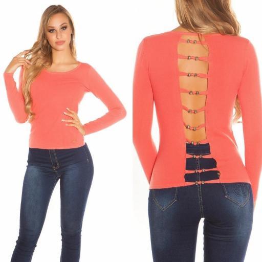 Suéter minimalista coral [3]