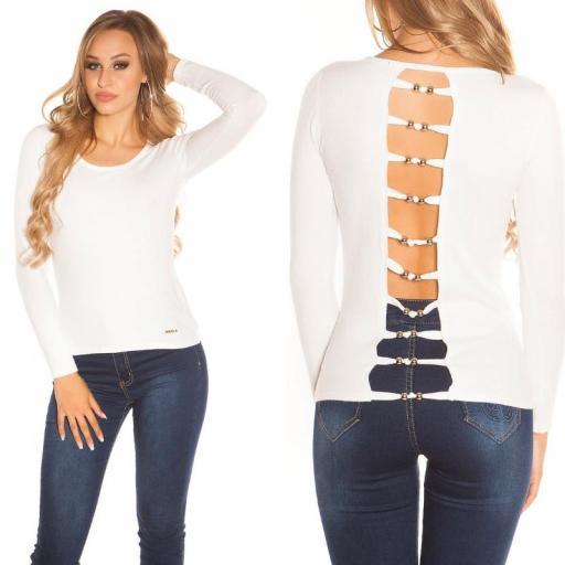 Suéter minimalista blanco [3]