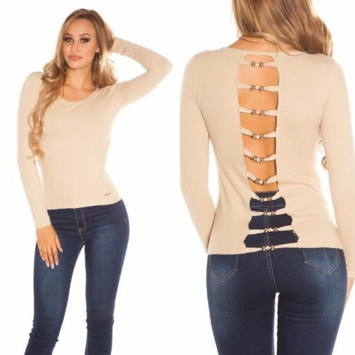 Suéter minimalista beige [2]