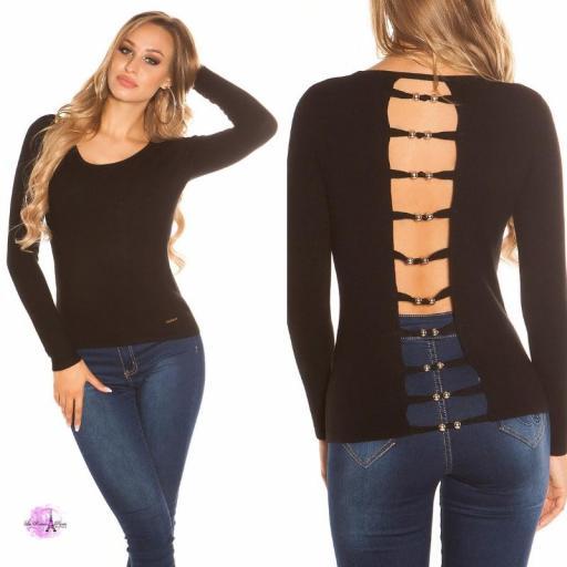 Suéter minimalista negro [3]