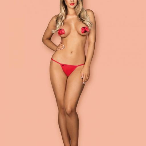 Clásico y ultra sexy Tanga rojo  [2]