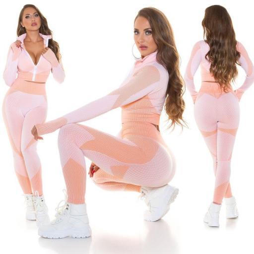 Chándal modelado rosa