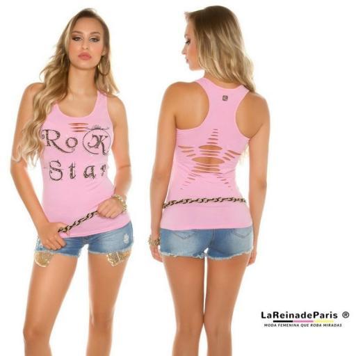 Top moda Rock Star Rosa
