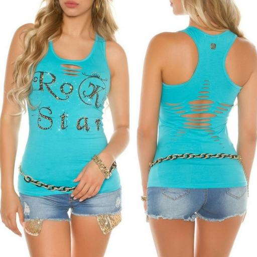Top moda Rock Star Turquesa [3]