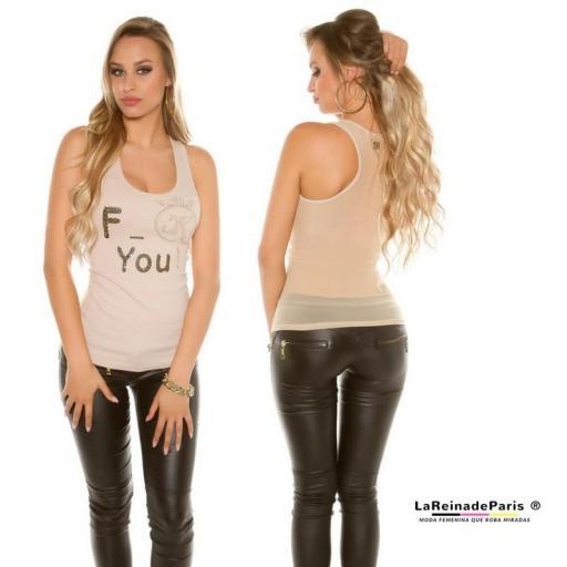 Top moda F-You Beige