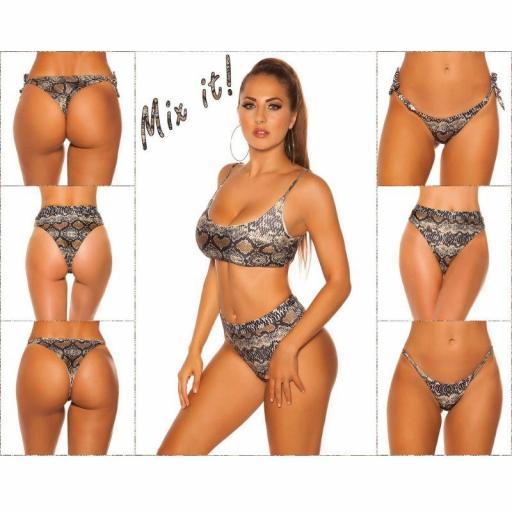 Top bikini ajustable serpiente print [3]