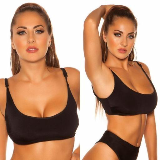 Top bikini ajustable negro [2]