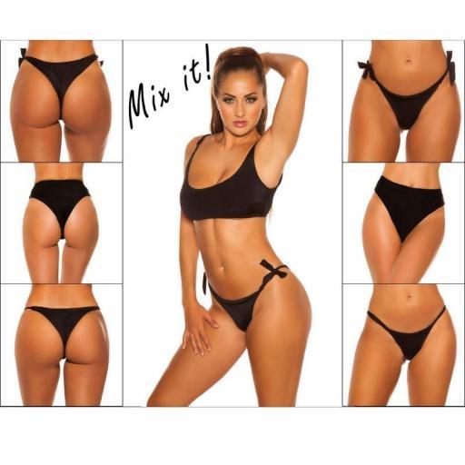 Top bikini ajustable negro [3]