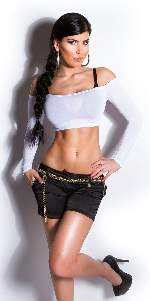 Sensual top crop blanco de moda