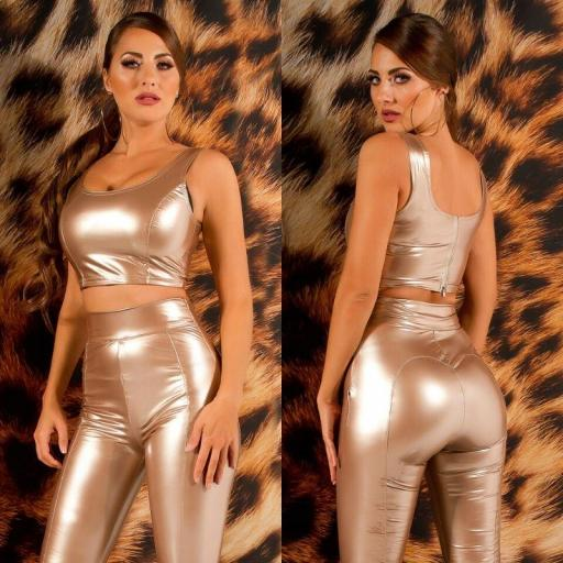 Top crop latex oro