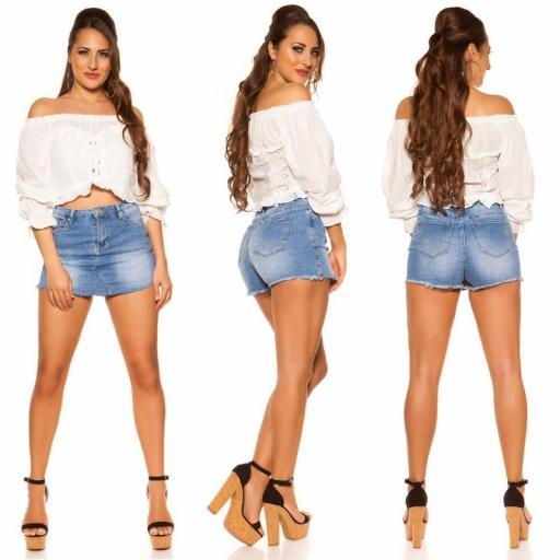 Moda mujer Top off shoulder blanco [1]