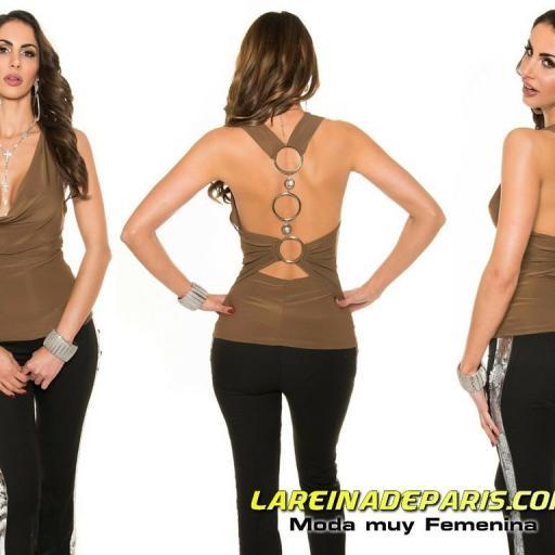 Top de moda con anillos en espalda [3]