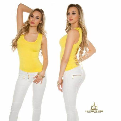 Top amarillo con lazada en la espalda  [1]