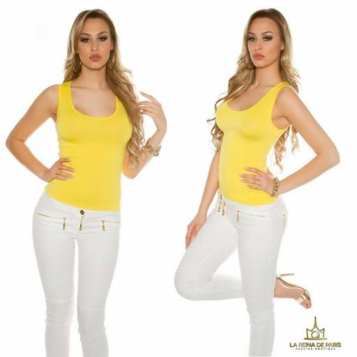 Top amarillo con lazada en la espalda  [3]