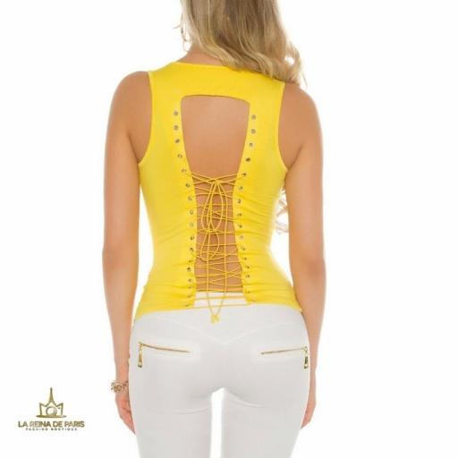 Top amarillo con lazada en la espalda  [2]