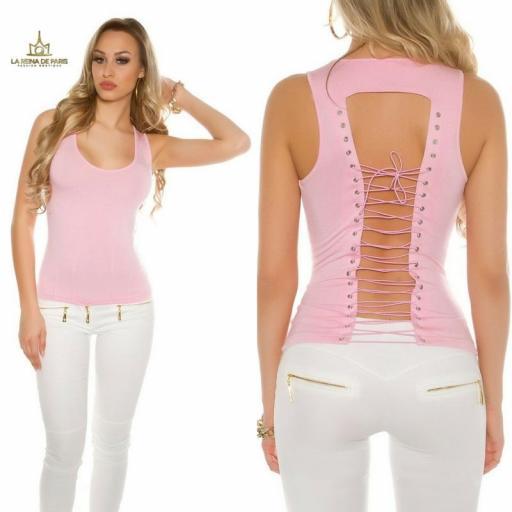 Top rosa con lazada en la espalda  [3]