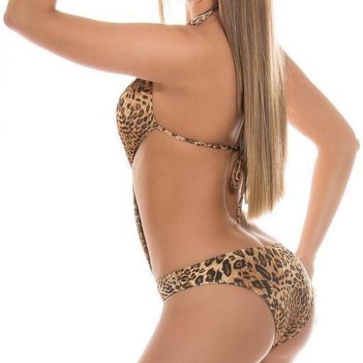 Trikini mujer animal print look felino [2]