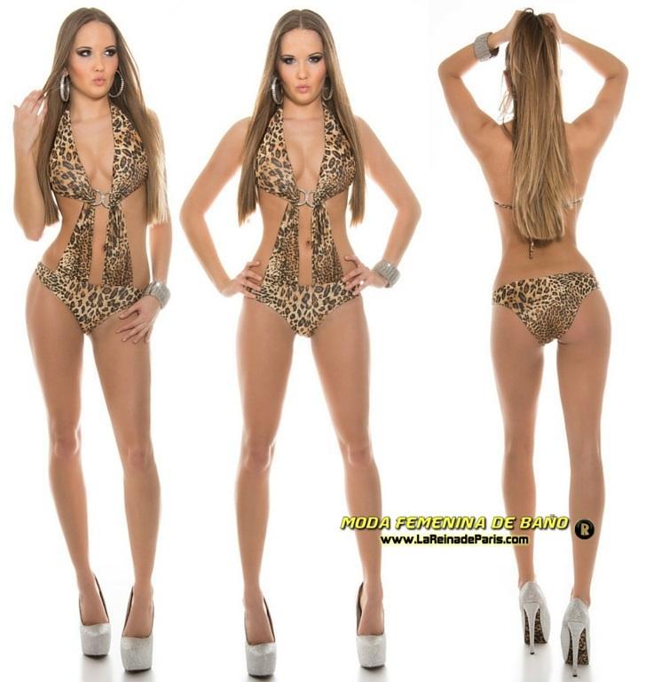 Trikini mujer animal print look felino