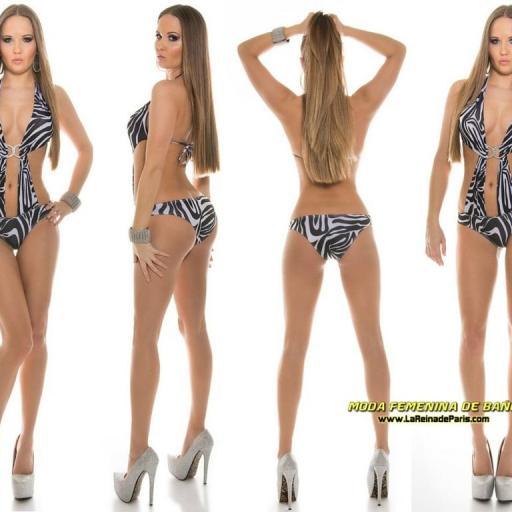 Trikini zebra selvático buckle de moda  [2]