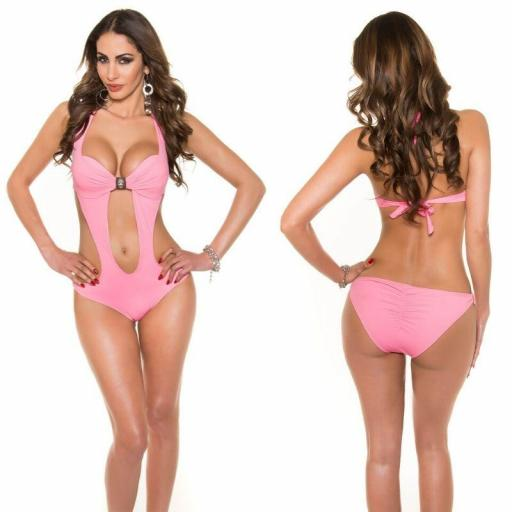 Oferta trikini rosa con hebilla