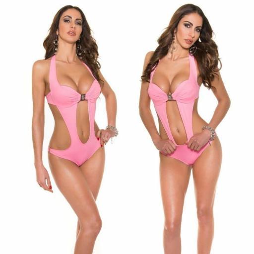 Oferta trikini rosa con hebilla [2]