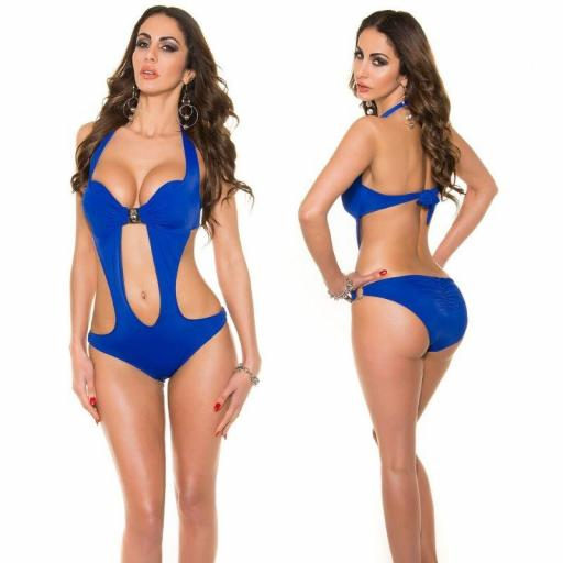 Oferta trikini azul con hebilla  [1]