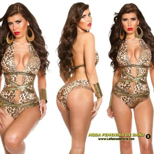 Trikini de moda serpiente de oro