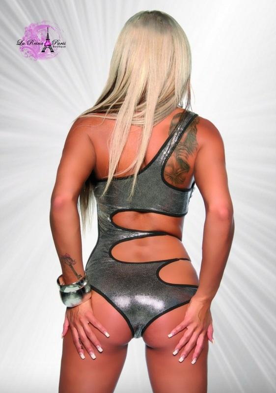 Trikini metalizado Plata Las Vegas
