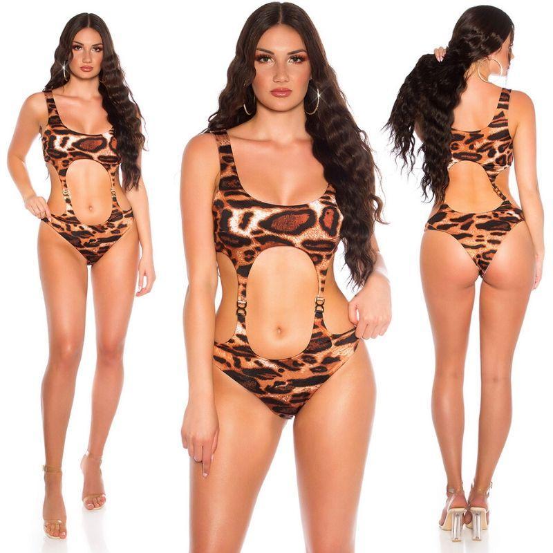 Trikini aberturas sexys leopardo