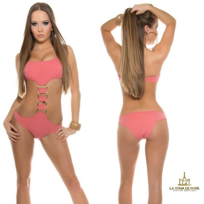 Trikinis de moda Akumal coral