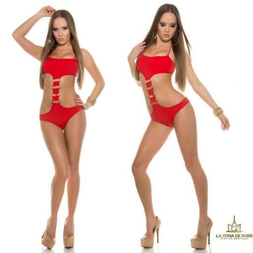 Trikini atractivo Akumal rojo [2]