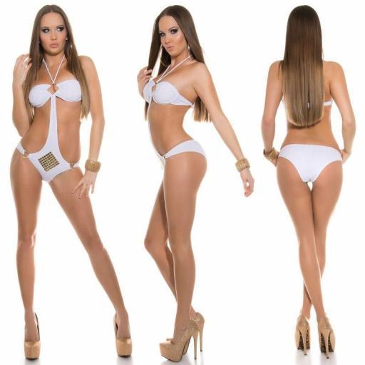Oferta trikini blanco con tachuelas [2]
