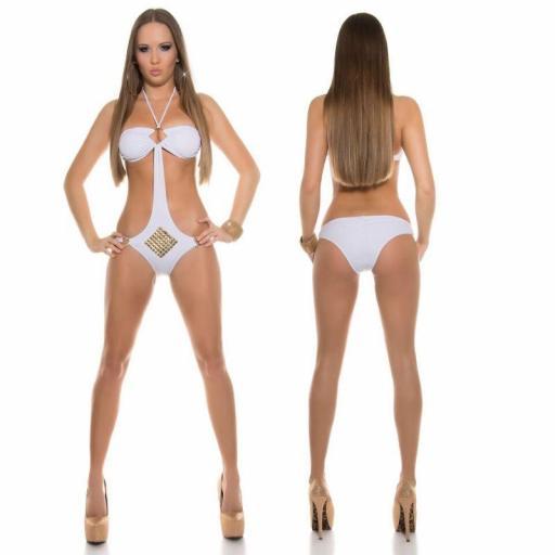 Oferta trikini blanco con tachuelas [1]