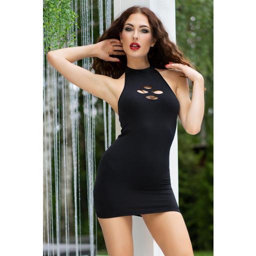 Vestido ajustado negro sin costuras