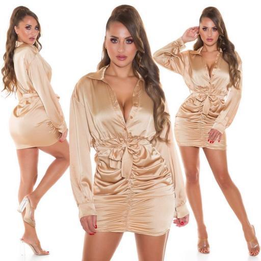 Vestido fantasía beige