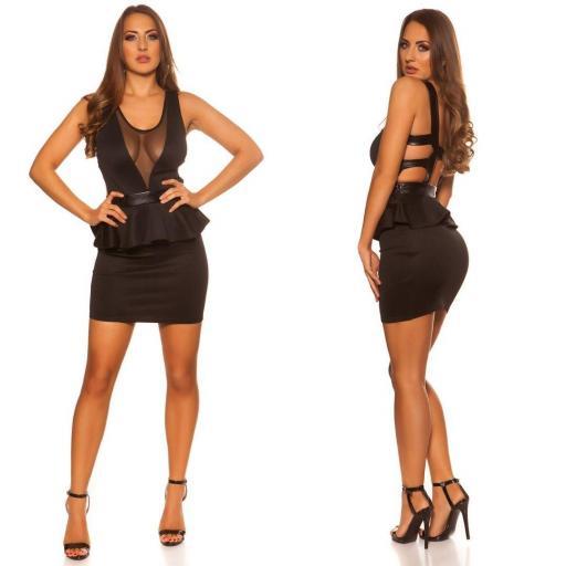 Vestido de moda atractivo con péplum Alenka [1]