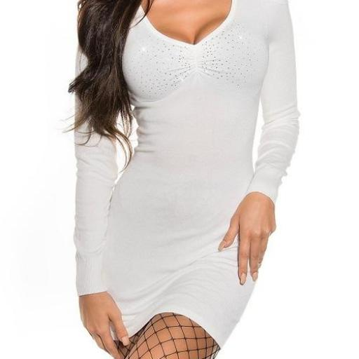 Vestido blanco de punto Estellebi  [1]