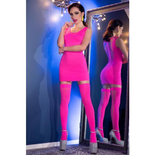 Vestido + medias a juego incluidas rosa
