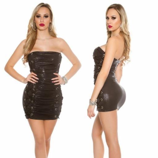 Vestido corto ajustado Sylvette negro