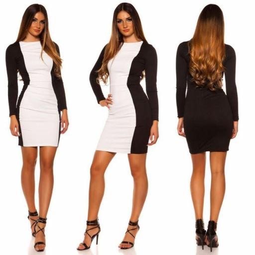 Vestido corto blanco ajustado al cuerpo [1]