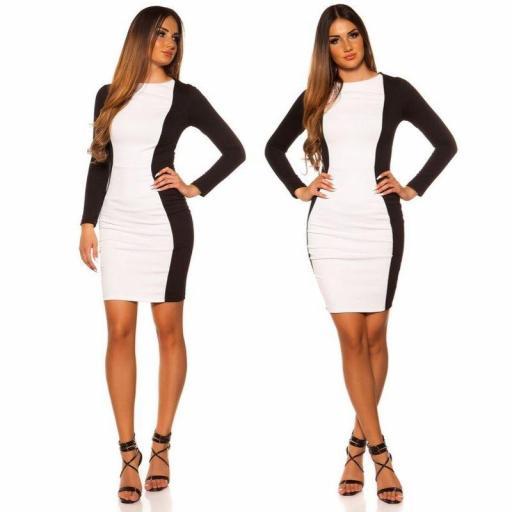 Vestido corto blanco ajustado al cuerpo [2]