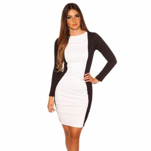 Vestido corto blanco ajustado al cuerpo [3]