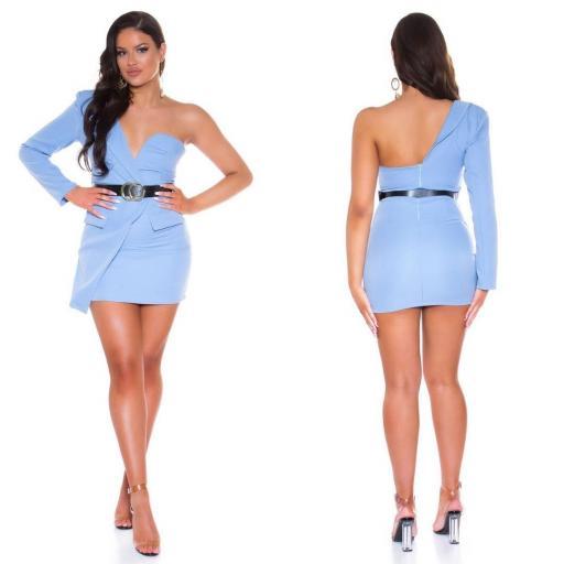 Vestido azul ajustado bello   [2]