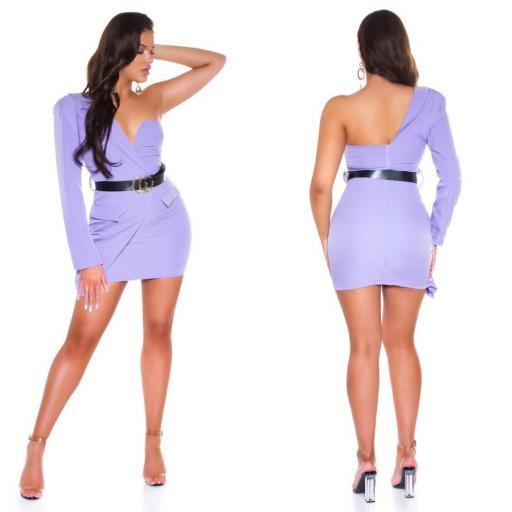 Vestido lila ajustado bello   [2]