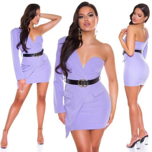 Vestido lila ajustado bello   [3]