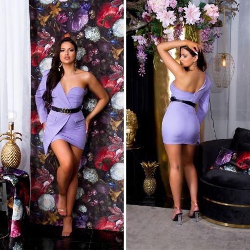 Vestido lila ajustado bello   [1]