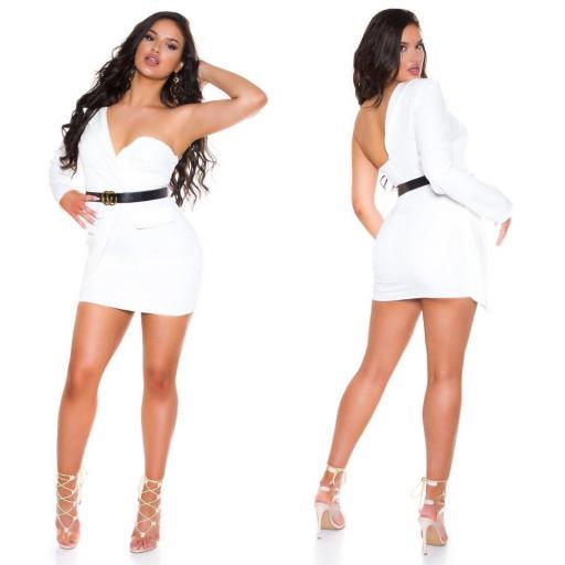 Vestido blanco ajustado bello   [2]