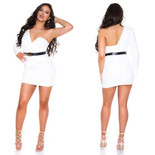 Vestido blanco ajustado bello   [3]