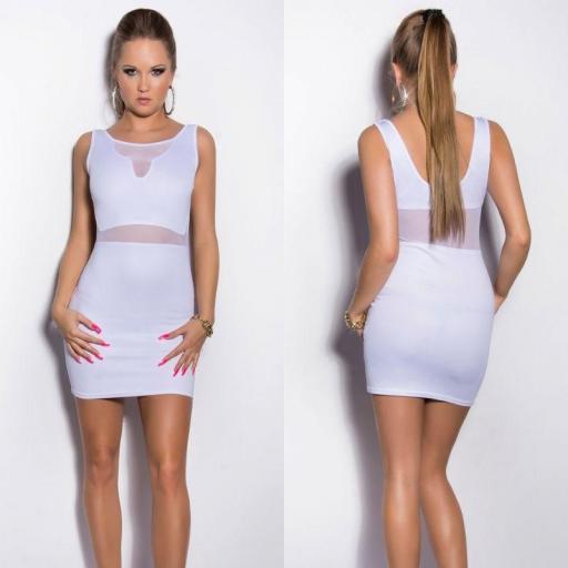 Vestido blanco aplicaciones de tul [2]